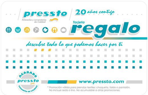 Tarjeta Regalo de Pressto