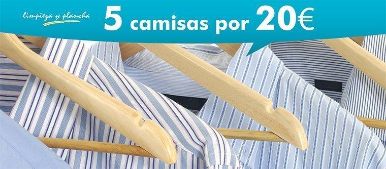 5 camisas por 20 euros
