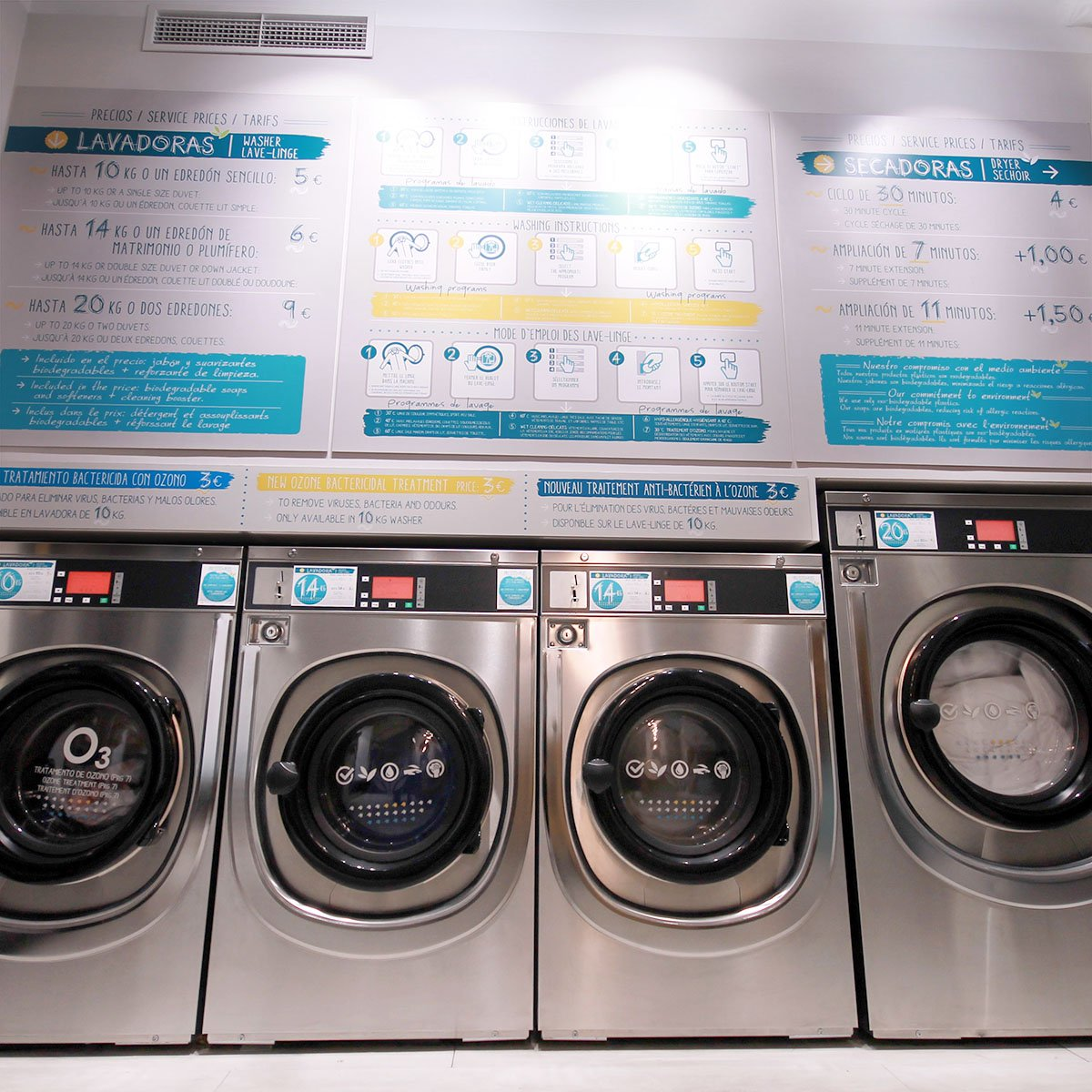 lavanderías Pressto + Plus